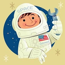 Moon theme - take boys' pics and put in for face. Outer Space and Astronauts Theme and Activities for preschool - and there are lots of other great theme/ideas here too!