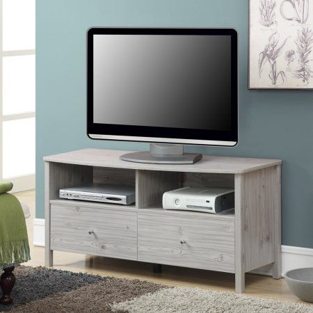 Convenience Concepts Designs2Go Westport TV Stand for TVs up to 46 inch, Silver