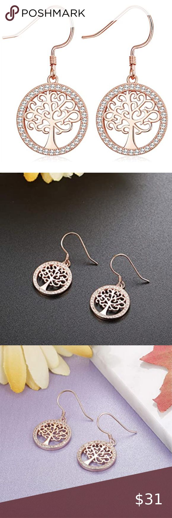 Download Sterling Silver Tree Dangle Earrings The tree of life ...