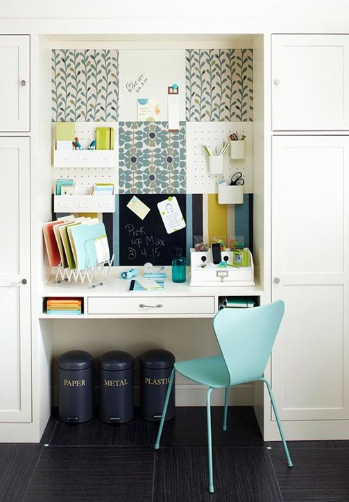 Inspiration for kitchen desk space