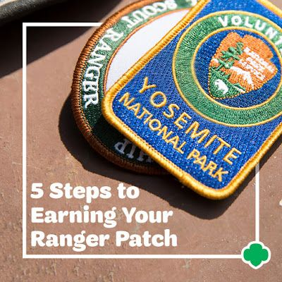 To earn the Ranger Patch, join the Girl Scout Ranger Program with the National Park Service! #FindYourPark #NPS101