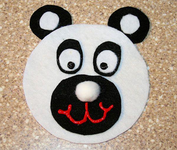 Lavoretto Panda con CD riciclati