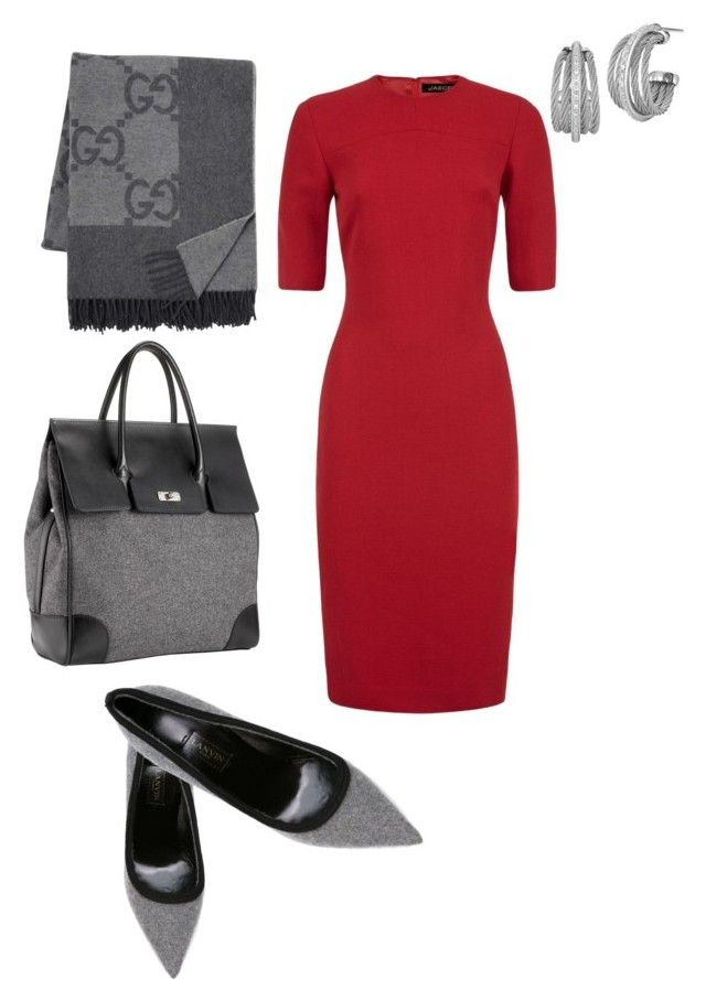 """""""Work"""" by alisonstylecoaching on Polyvore featuring Lanvin, Mark/Giusti, Jaeger, Gucci and Charriol"""