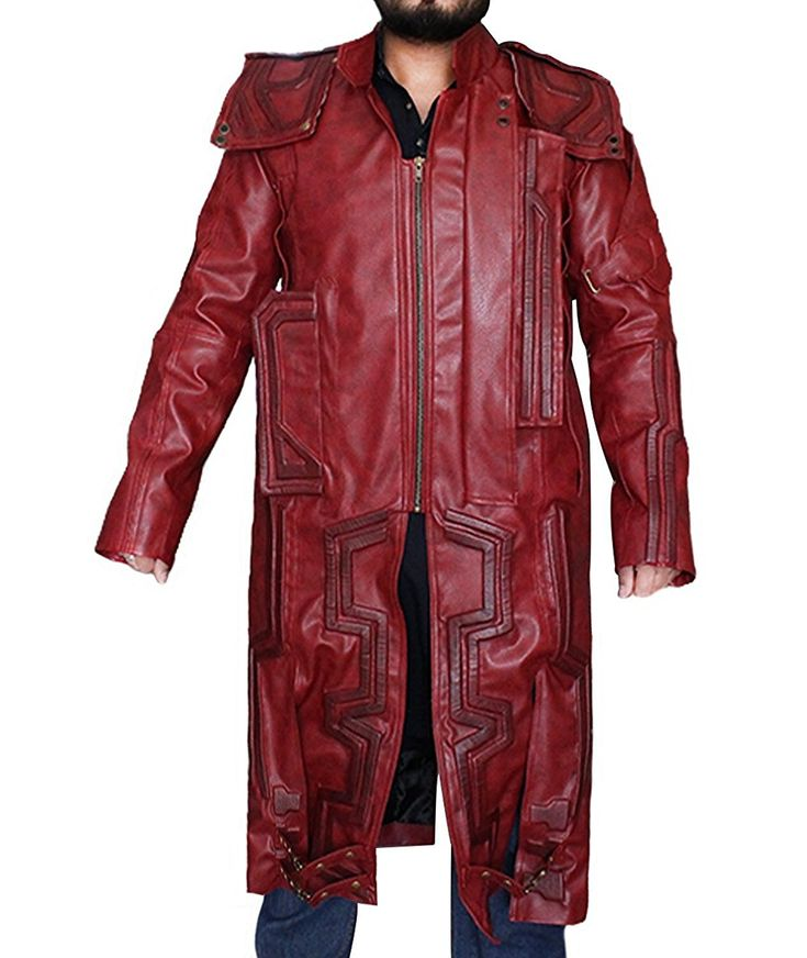 Trench Mens Winter Coats Amazon Best Seller Faux Leather Jacket Star Lord Guardians of the Galaxy Chris Pratt