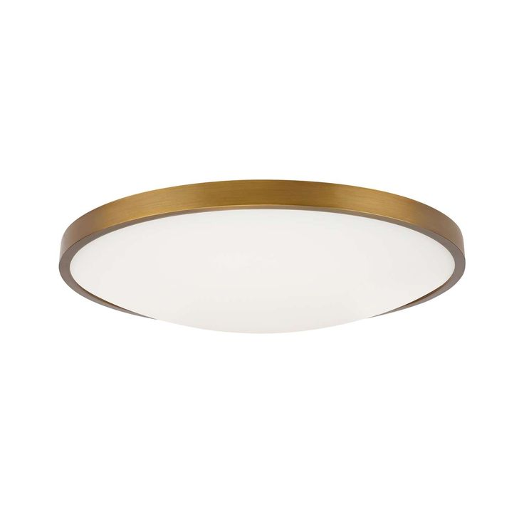 13 inch Aged Brass flush mount ceiling fixture light