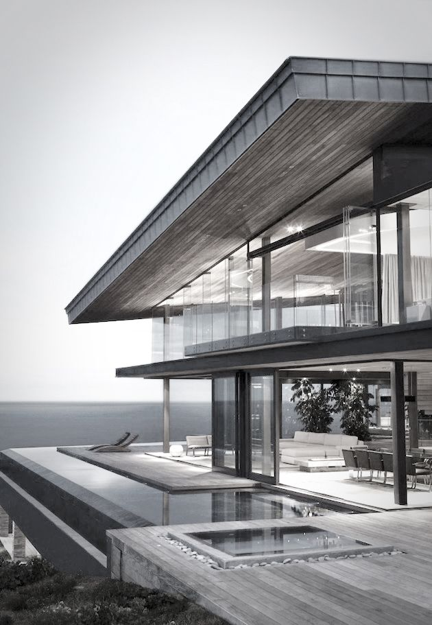 Dream glass house on the water for cooking and entertaining friends XO | casa | #designer #sleekhouse