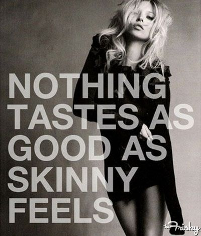 Ok, we all really need to stop posting things like this- making people feel imperfect. Is it worth starving yourself just to be skinny? Forcing your self to throw up just to be skinny? Lying all the time about eating to be skinny? Does that really feel good? Everyone is perfect just the way they are. There is only one shape- perfect