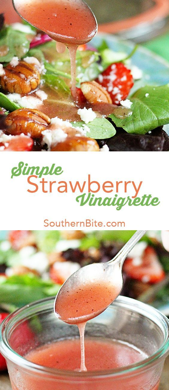 This Strawberry Vinaigrette proves that less is more. It calls for only 5 ingredients and takes about 5 minutes to make. #ad #NewNESTEA #LessIsMore
