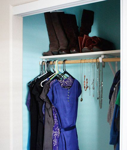 Ah that's a good idea - paint a closet interior a different, fun color!