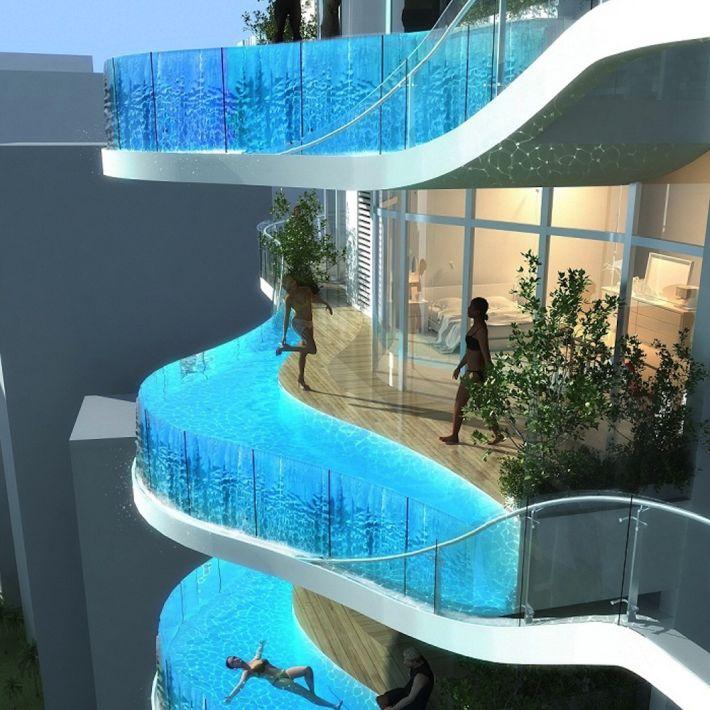 """恐怖!興奮?バルコニーにプールのある高層タワーマンション""""Bandra Ohm"""" あなたなら住みたいですか? - IRORIO(イロリオ)"""