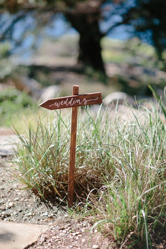 Wedding Directional Sign with Stake Wedding by ThePaperWalrus