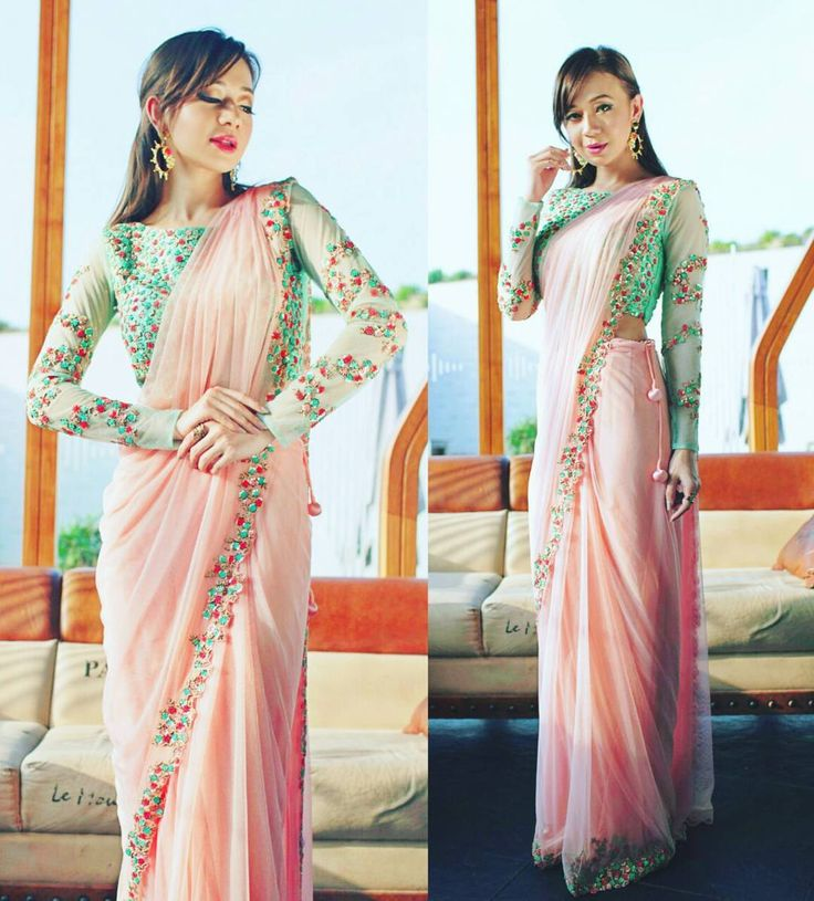 The Super Pretty fashion blogger @natasha_shrotri in our @kalkifashion drop dead gorgeous drape saree