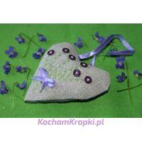 Lawendowe serce dla Mamy III - kochamkropki- kwiat lawendy
