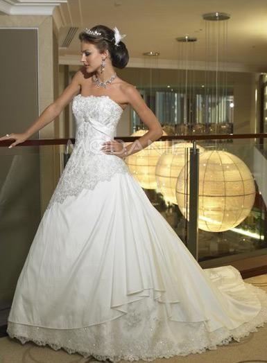 Robe princesse évasé broderie dentelle robe de mariée pas cher [#M1405165514] - modanie