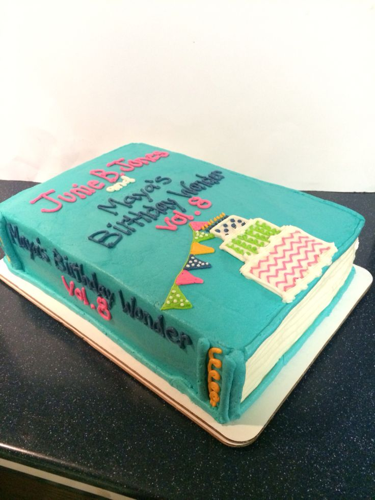 Junie B Jones Birthday Book Cake Www.facebook.com/wildflourcakesbyheather