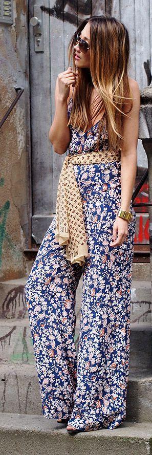 Floral Jumpsuit Boho Chic Style