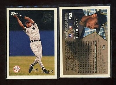 DEREK JETER  1996 Topps #219 NEW YORK YANKEES ROOKIE card NM Future Star