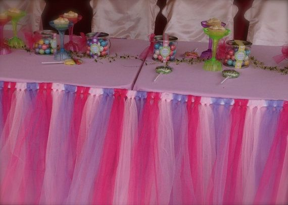 Cupcake Party Skirt 12 Foot Tulle Table Skirt By AlongCameAParty, $109.00 |  Tulle Table Skirts | Pinterest | Tulle Table And Tulle Table Skirt