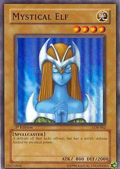 super rare Mystical Elf yugioh card