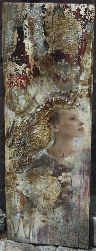 decoupage και μετάξι Ma.ryski: Ζάχαρη Άγγελος