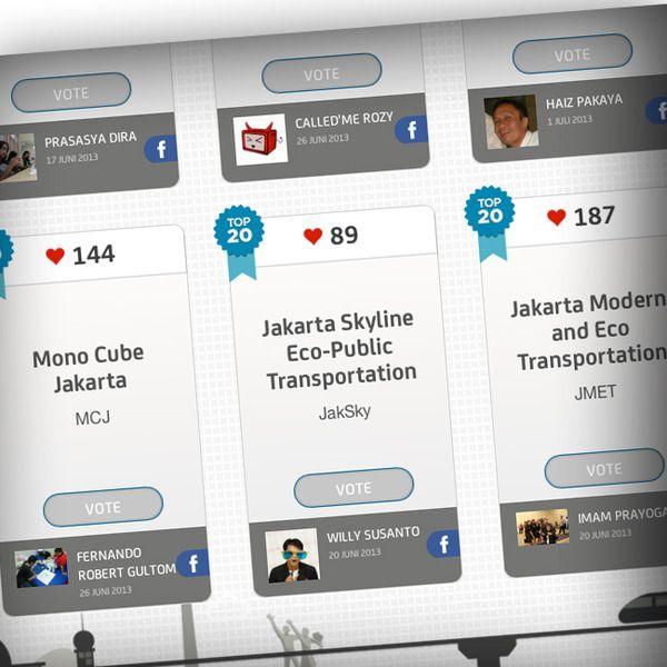 Usulan nama monorel Jakarta, yaitu J-link (singkatan Jakarta Raya Skylink), baru mendapatkan 117 suara. Sedangkan Monotasen (Monorail Jakarta Sentral) baru 52 suara. Adapun NTR (Nusantara Trans Rapid) sudah meraih 2059 suara. Yang memilih adalah pembaca Kompetisi Jakarta Monorail, dengan menggunakan akun Facebook. Hadiah utama adalah gratis naik monorel seumur hidup, lalu hadiah bontot berupa cenderamata dari Jakarta Monorail. Pemungutan suara akan berakhir Sabtu 13/7/2013.