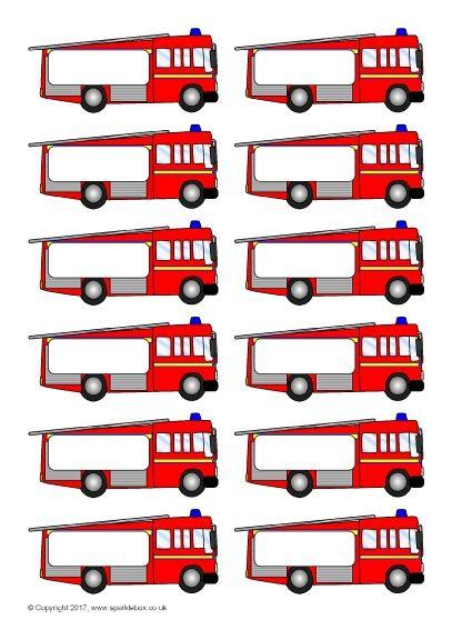 Pupil Self-Registration Fire Engines (SB11807) - SparkleBox