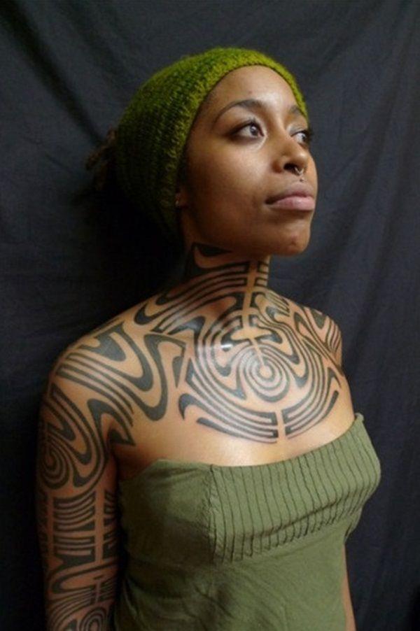 Sexy African American Women Tattoo On The Ass Fashion Fleece Neck Warmer Multi