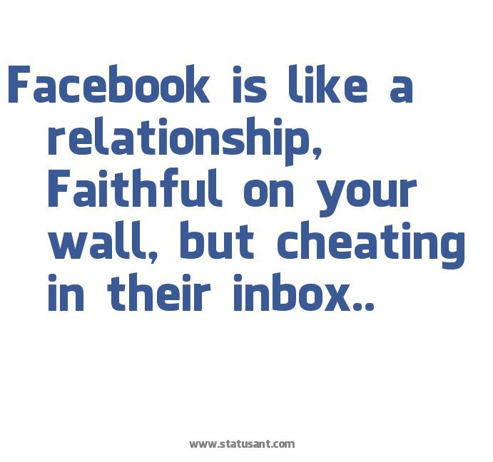 emotional cheating quotes | … relationship, Faithful on your wall, but cheating in their inbox