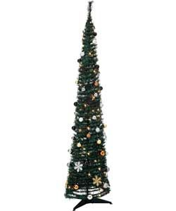 Luxe Green Slim Pop Up Christmas Tree - 6ft.