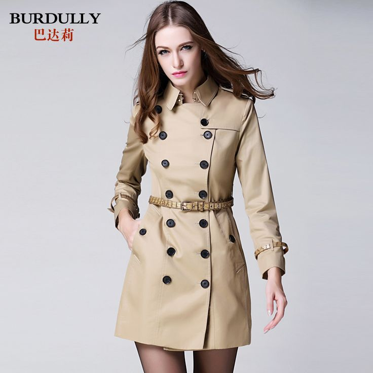 Find More Trench Information about Autumn Women Female Classic Double Breasted Long Windbreaker Trench,High Quality trench coats for men on sale,China trench dress Suppliers, Cheap windbreaker coat from LOLi'S CUTE STORE on Aliexpress.com