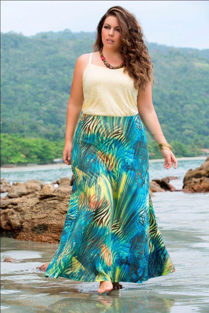 Verão 2015 campanha com Fluvia Lacerda - Moda Plus Size
