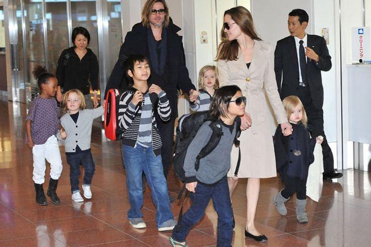 Brad Pitt and Angelina Jolie Kids Getty Images