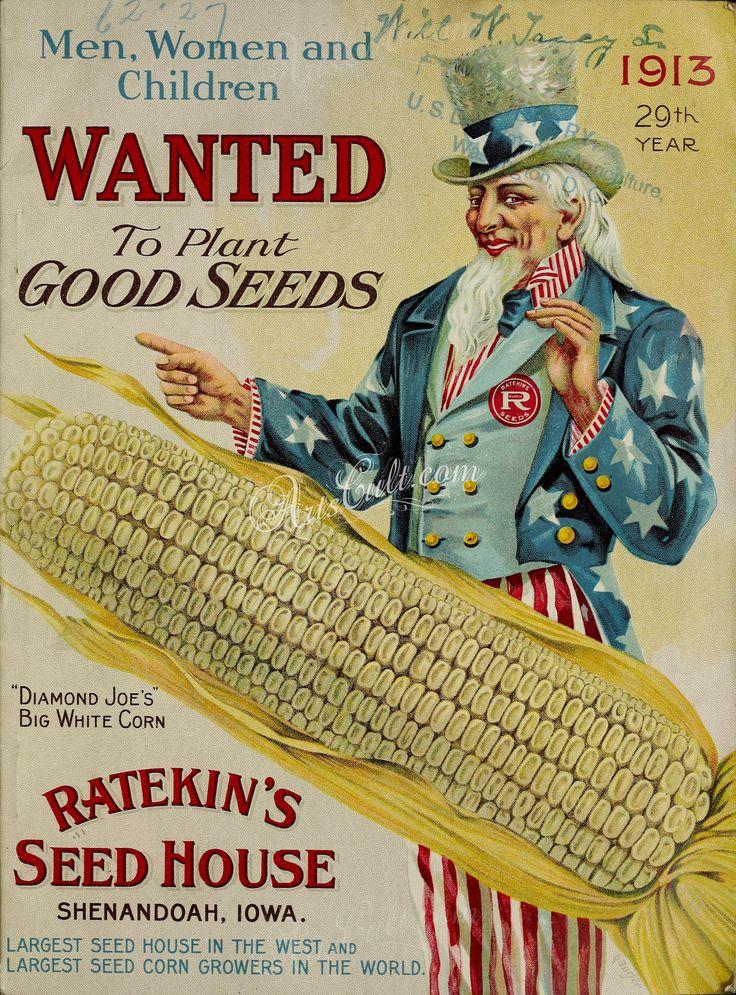 070-Uncle Sam, USA, patriotic, Corn, American      ...