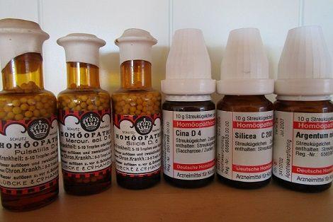 Homöopathie Mittel in der Form von Globuli