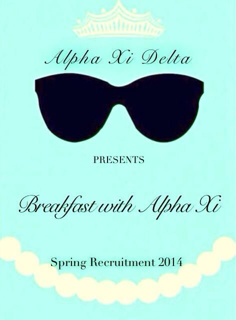 AΞ∆ tiffany theme ♡ what a cute idea for a COB event!!!!! loveeee it!!!!