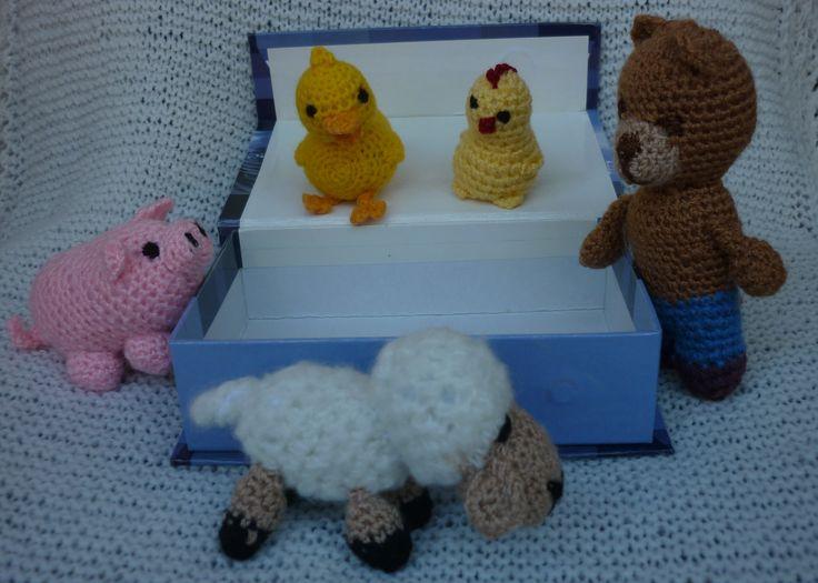 mini állatok horgolt