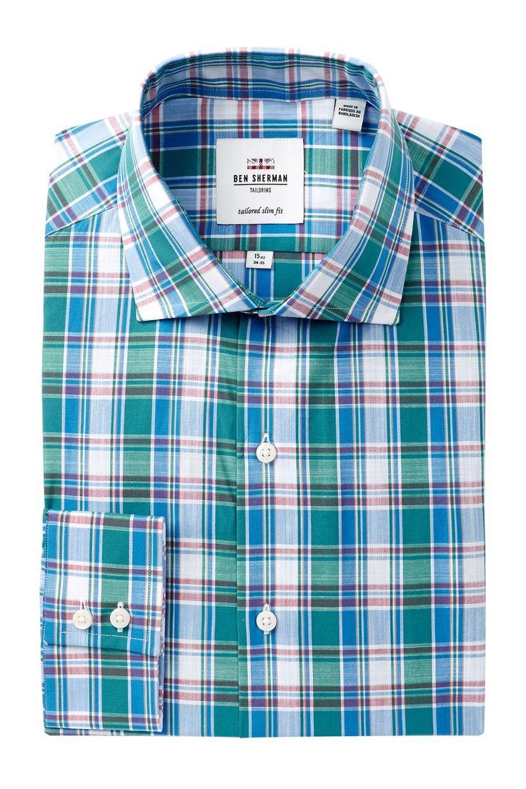 Royal Plaid Slim Fit Dress Shirt