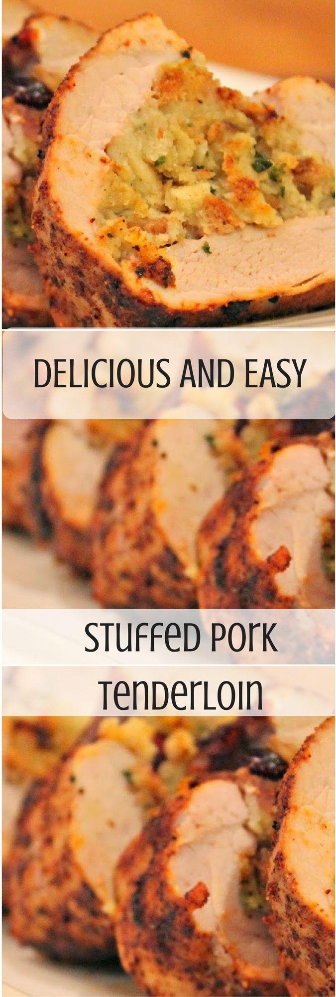pork loin recipes | stuffed pork tenderloin | family friendly recipes | pork tenderloin | dinner recipes |