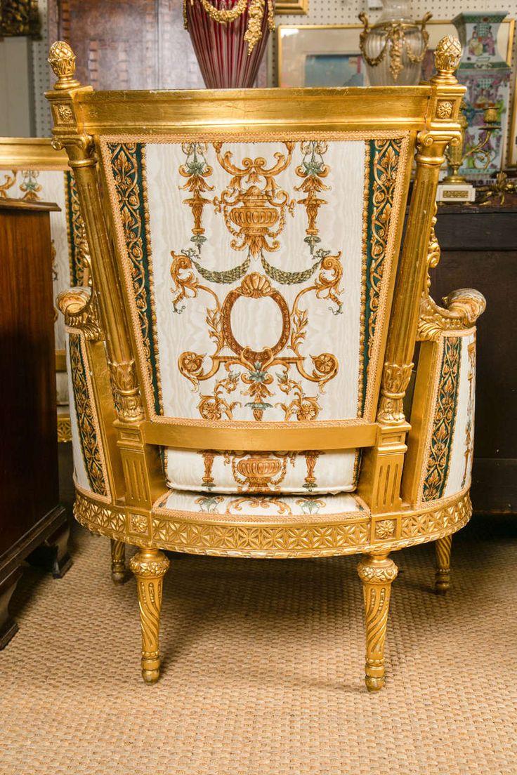 Large Pair of Louis XVI Style Bergeres