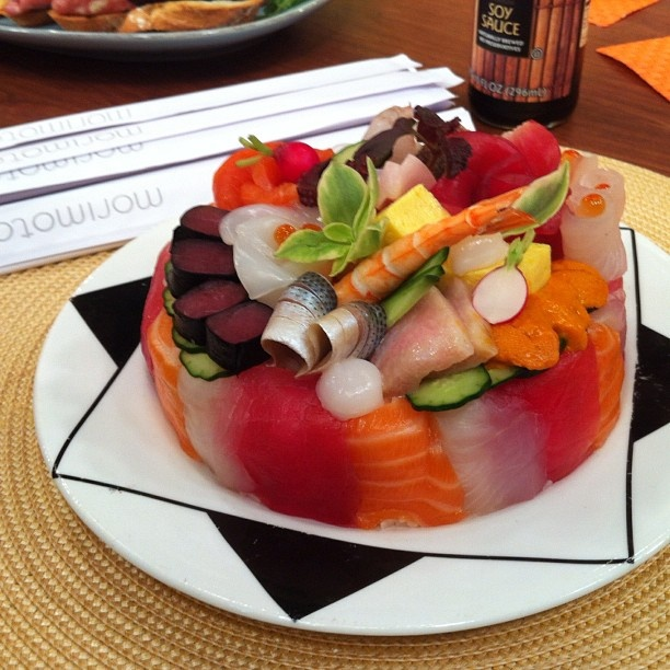 "Chef Roble's Sushi Birthday Cake.  Now, that's a birthday ""cake""!!"