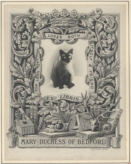 Bookplate Estate ≡ vintage ex libris labels︱artful book plates - Mary Duchess of & 369 best Books - book plates - decorative clever artistic images ...