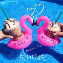 1 par ( 2 pcs ) Mini gonflable Flamingo pour de soirée de mariage piscine Instagram Ins Photo flottant porte - gobelet Hot Summer jouets de natation(China (Mainland))