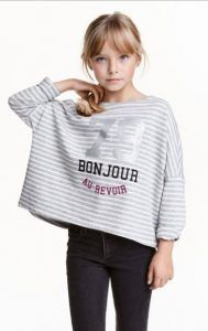 Blouses for H & M girls (8-14 + years) oversized-top-hm-8-14