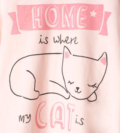 Pijama gatos-Underwear y pijamas-Niña | 4-14 años-NIÑOS | ZARA México