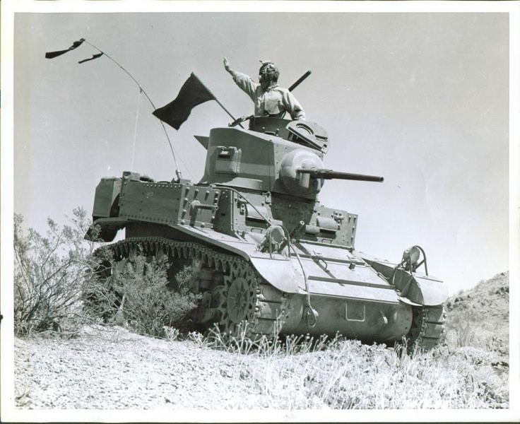 M-3 Stuart Light Tank, in Mojave Desert, Indio, CA, 1942