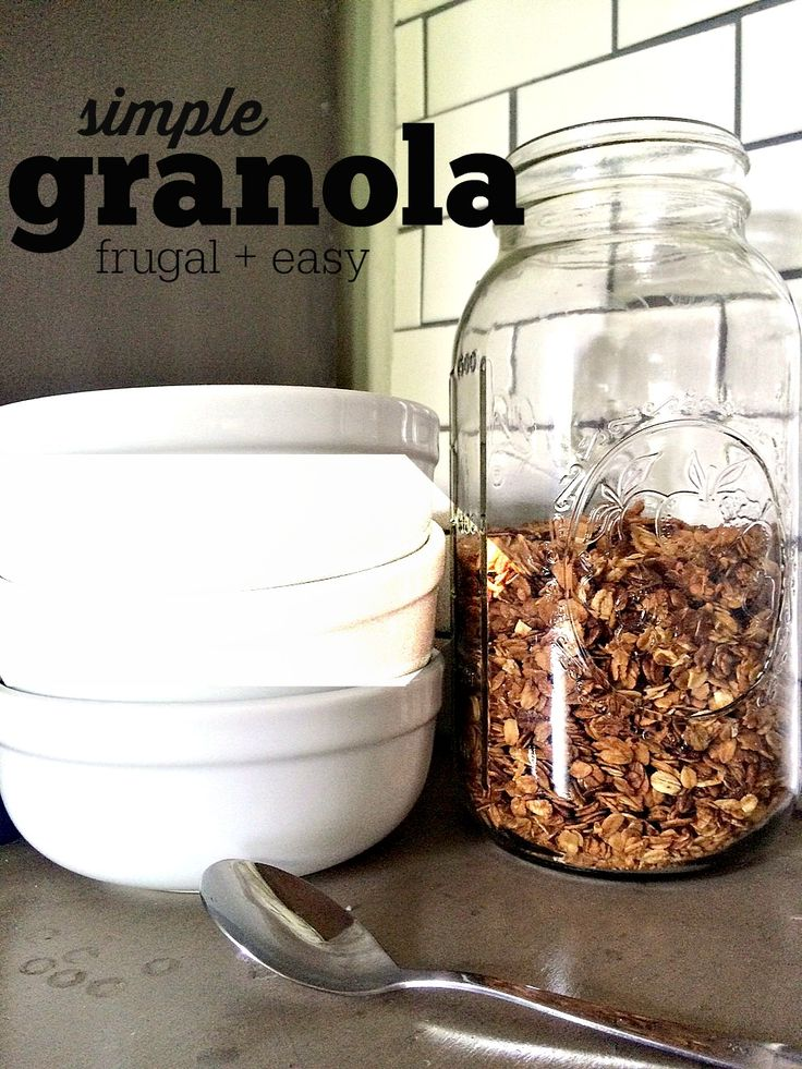 Want a delicious and frugal option for cold cereal in the morning? How about granola? Our family favorite is delicious, frugal, and is SO easy to make.