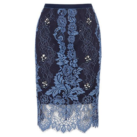 Buy Coast Kamlai Petite Skirt, Navy Online at johnlewis.com