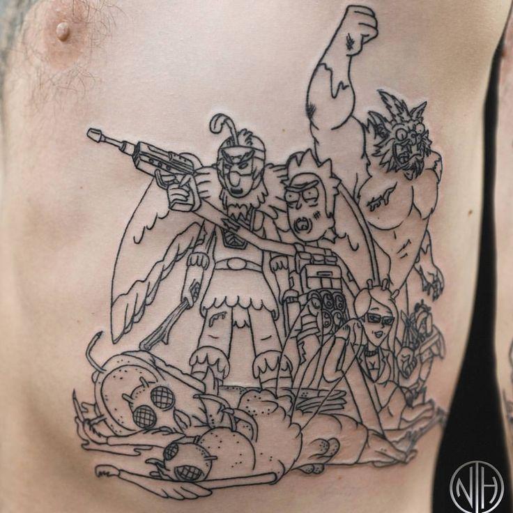 #rickandmorty #rickandmortytattoo #battleatbloodridge #glapflaps3rdmoon #squanchy #birdperson #gromflomites #tattoo #tattoos #seattle #seattletattoo #nickharttattoo #fkiron #spektraegdex #eternalink #seattletattooartists (at Nick Hart Tattoo)
