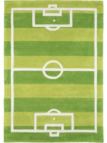 Simple Kinderteppich Fussball Gr n