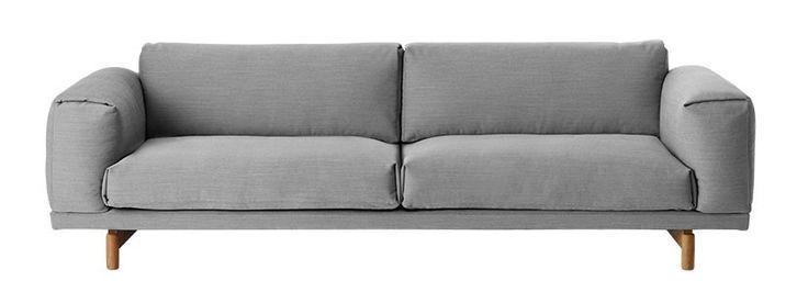 Muuto Rest Sofa 3-zits bank Steelcut Trio 133 grijs